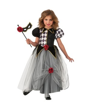 Girls Venetian Masquerade Princess Costume