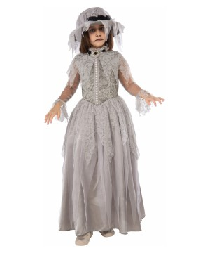 Girls Victorian Bride Ghost Costume