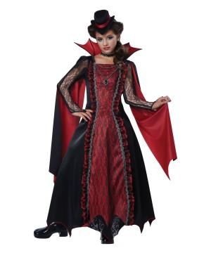 Girls Victorian Vampira Costume