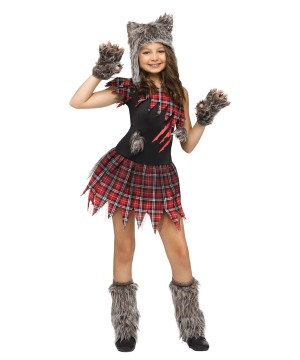 Girls Wild Wolfie Costume