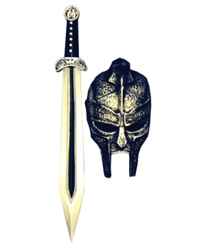 Gladiator Mask Sword Costume Set