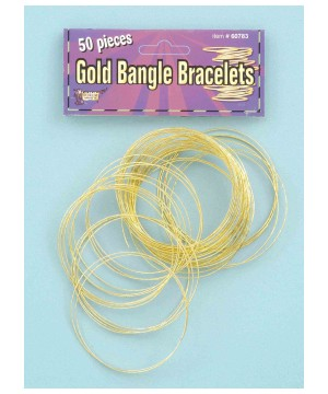 Golden Bangle Bracelets Pack