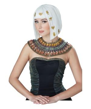 Hairoglyphics White Hair Egyptian Wig