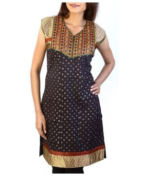 Indian Kurti Fancy Embroidered Brocade