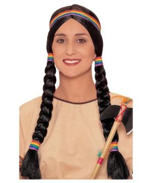 Indian Squaw Braided Wig