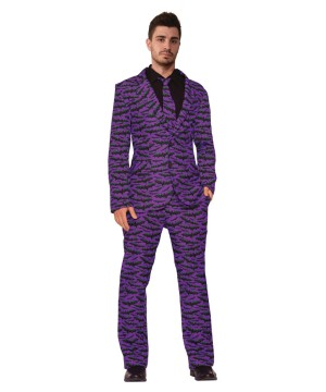 Mens Bat Suit Tie Costume