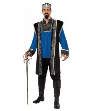 Mens Blue King Costume