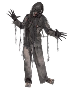 Mens Burning Zombie Costume
