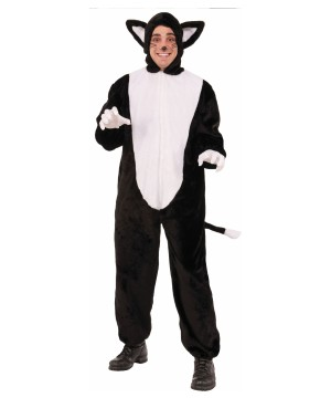 Mens Elegant Cat Mascot Costume