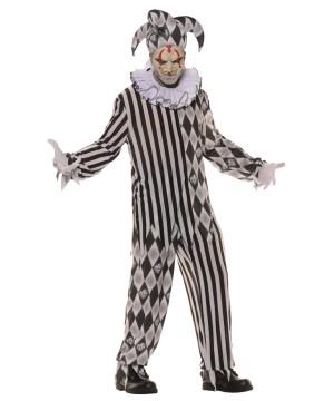 Mens Evil Harlequin Costume
