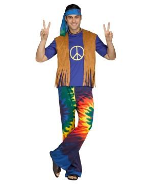 Mens Groovy Hippie Costume