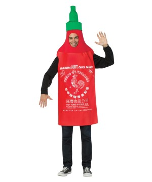 Mens Hot Sriracha Sauce Costume