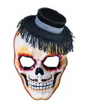 Mens Senor Skull Mask Hay Hat