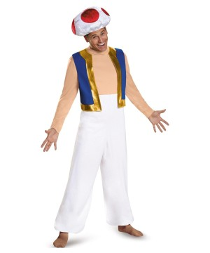 Mens Super Mario Toad Costume
