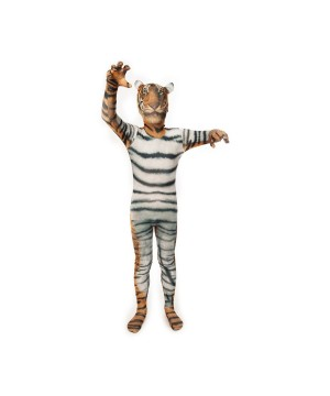 Mens Tiger Morphsuit Costume