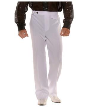 Mens White Disco Pants Costume