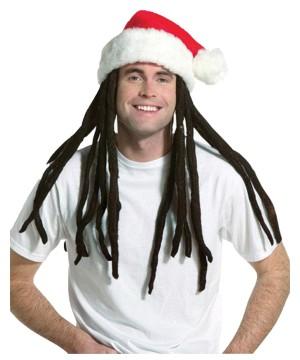 Rasta Santa Dreadlocks Hat