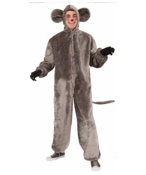 Sneaky Gray Mouse Mascot Costume