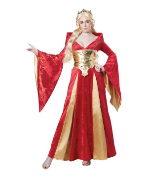 Sophisticated Medieval Queen Woman Costume