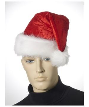 Velour Christmas Santa Hat
