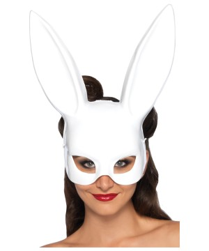 White Bunny Party Mask