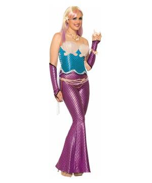 Womens Blue Mermaid Corset