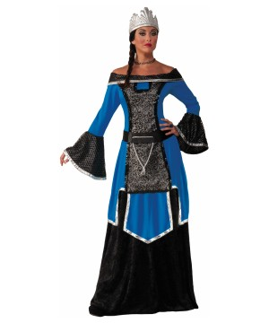 Womens Blue Nobility Queen Costume