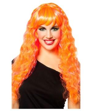 Womens Candy Glam Orange Wig