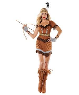 Womens Cherokee Indian Maiden Costume