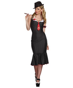 Womens Deadly Dames Gangster Costume