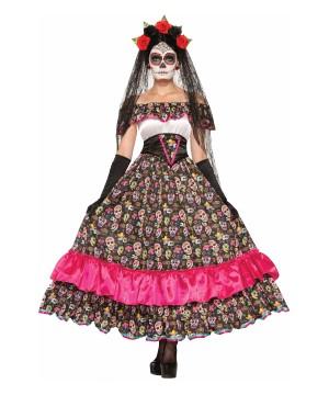 Womens Dia De Los Muertos Dress