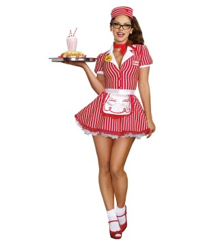 Womens Diner Sweetheart Costume
