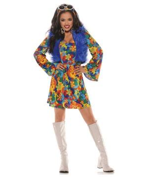 Womens Disco Hippie Costume