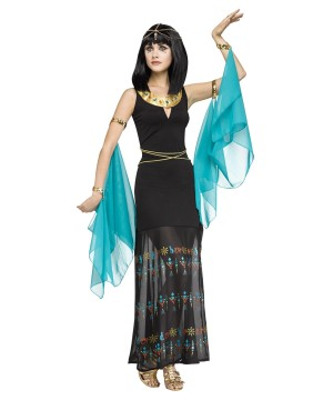 Womens Egyptian Hieroglyph Queen Costume