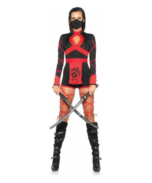 Womens Fiery Dragon Ninja Costume