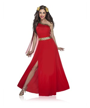 Womens Garnet Greek Goddess Costume