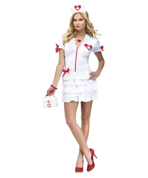 Womens Heartbeat Nurse Costume