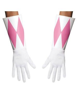 Womens Pink Power Ranger Gloves