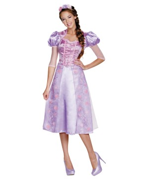 Womens Rapunzel Dress Costume