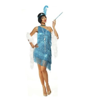 Womens Sexy Sapphire Flapper Costume