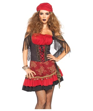 Womens Spanish Gitana Gypsy Costume