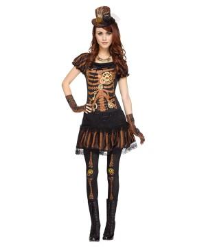 Womens Steampunk Skeleton Costume
