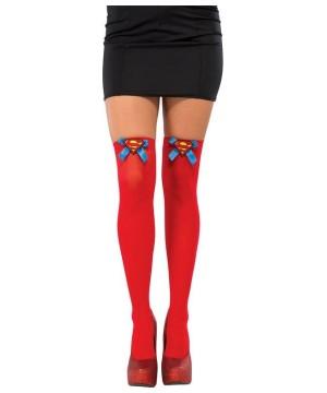 Womens Supergirl Thigh High Stockings