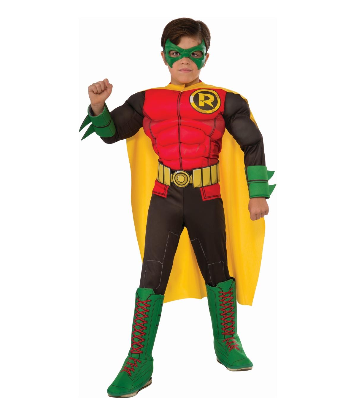 Dc Comics The New 52 Robin Muscle Boys Costume