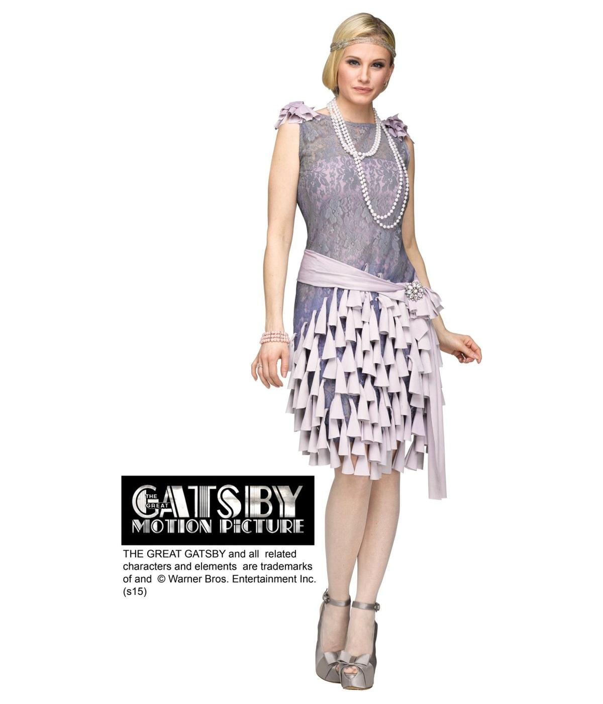 Daisy Buchanan Bluebells Dress Woman Costume 1920s Costumes