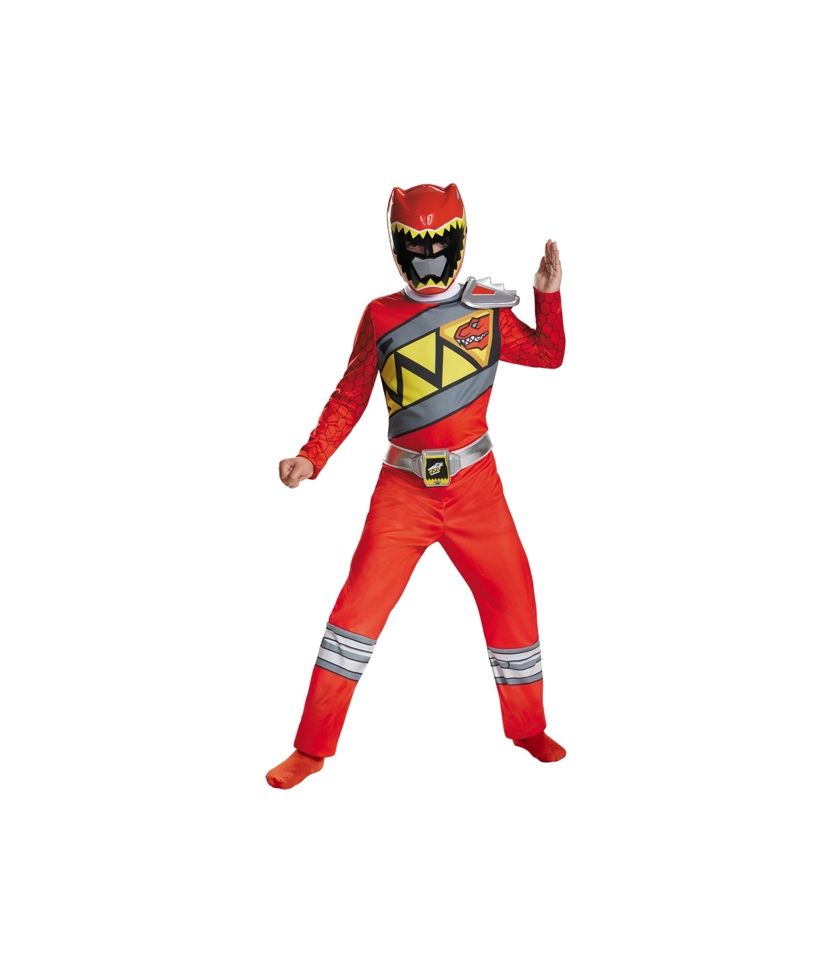 power rangers dino charge red ranger boys costume superhero costume. Black Bedroom Furniture Sets. Home Design Ideas