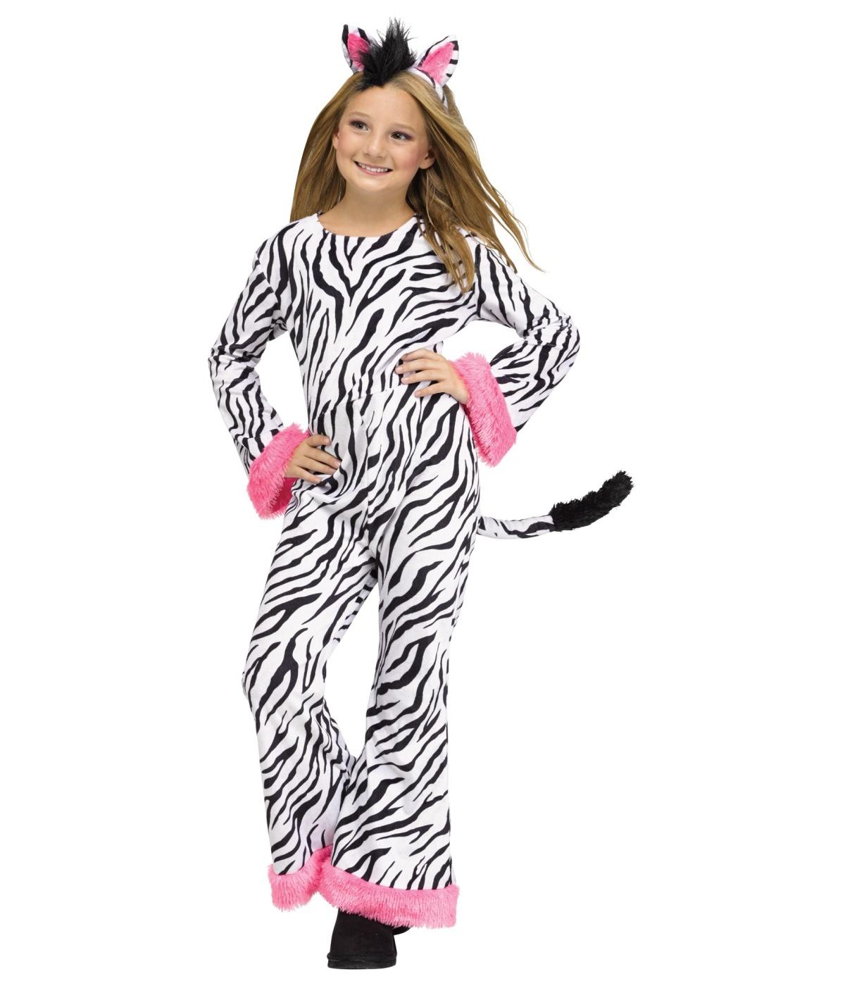 Cool Stripes Zebra Girls Costume Animal Costumes