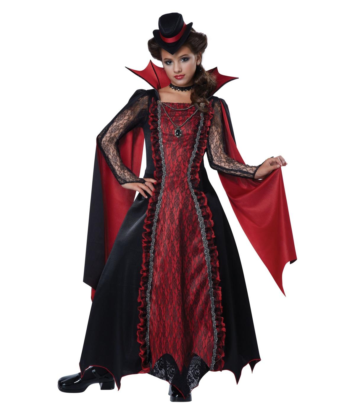 Victorian Vampira Girls Costume