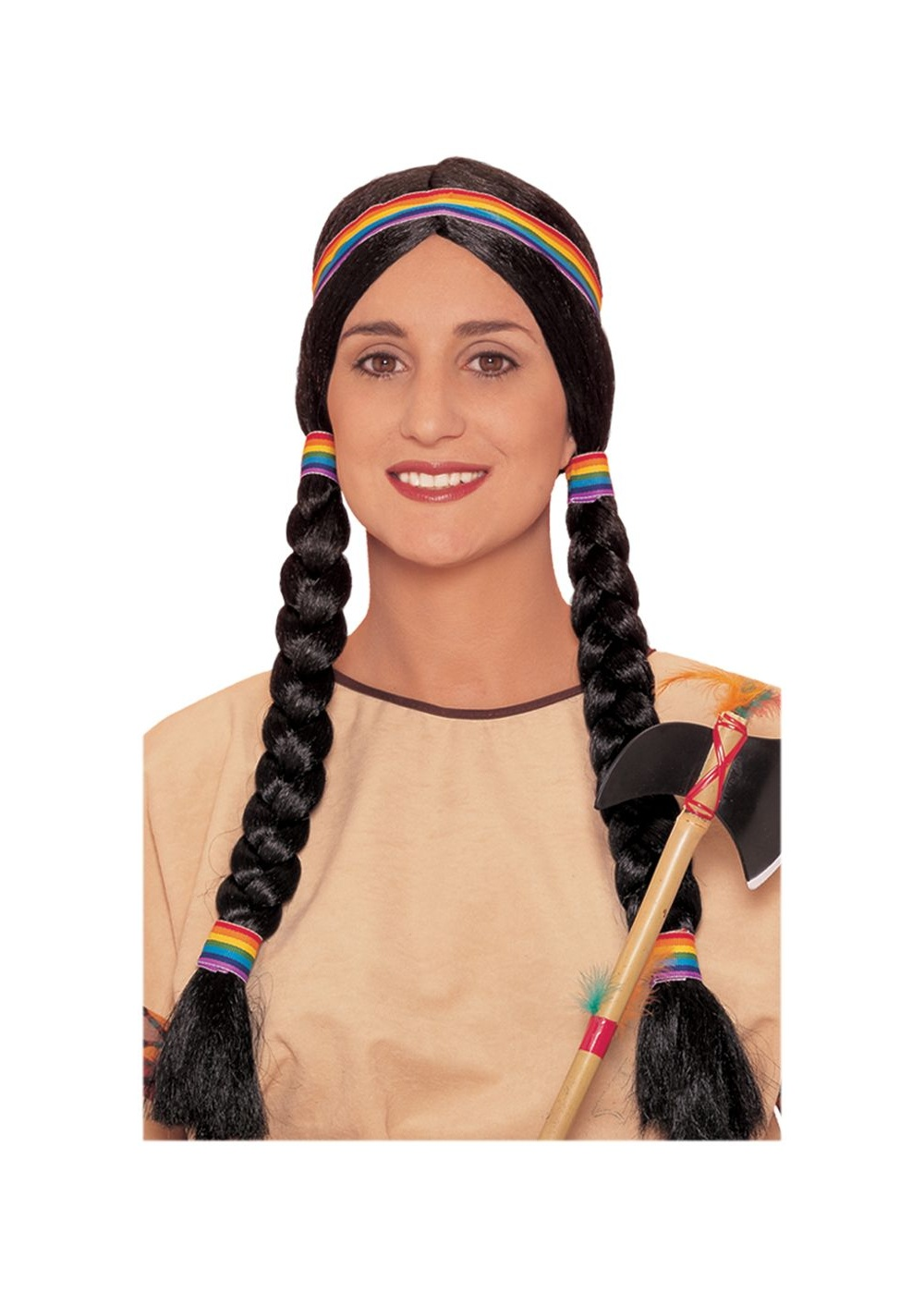 Indian Squaw Braided Wig Indian Costumes
