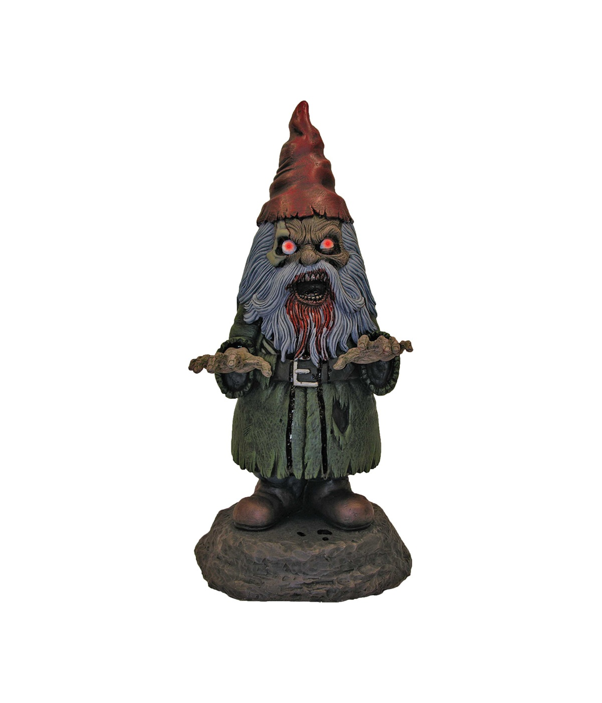 Garden gnome with light up eyes lawn decor props for Gnome 3 decoration fenetre